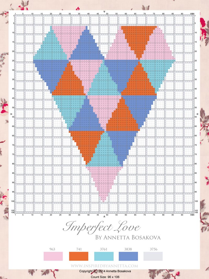 Free Imperfect Love Cross Stitch Chart - Annetta Bosakova